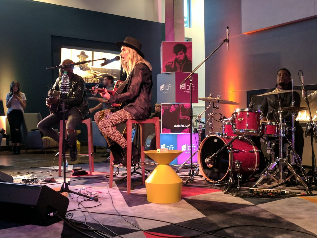 ZZ Ward performs at the Aloft Seattle-Redmond, WA