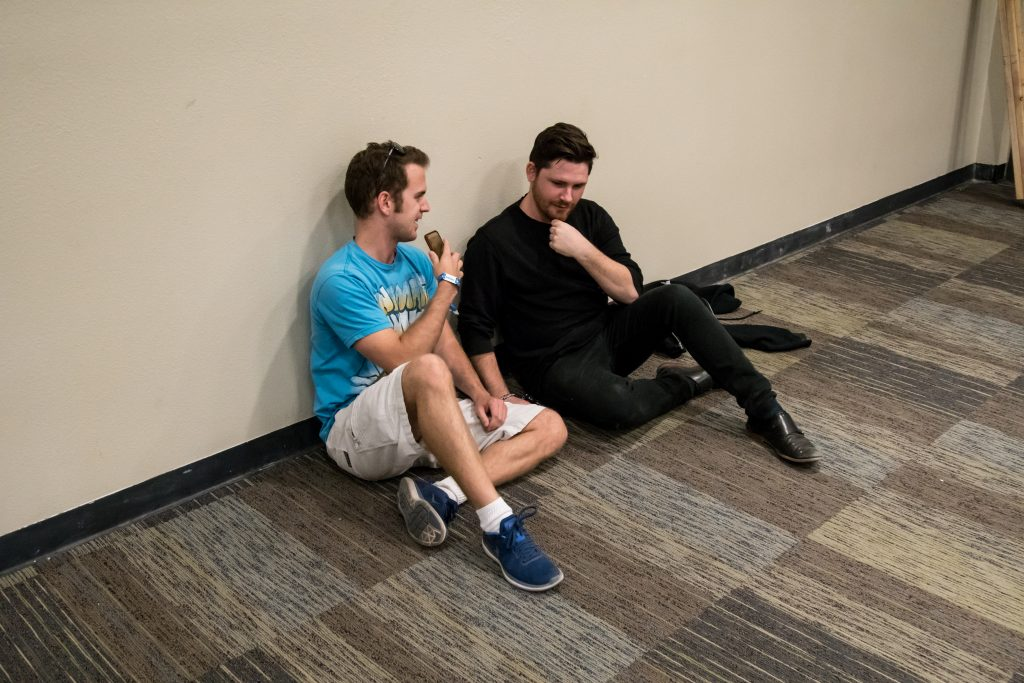 Kevin and Zack discussing his journey in music.