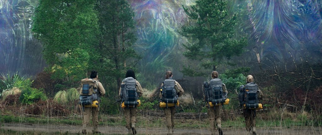 Natalie Portman and her team prepare to enter The Shimmer in 2018's Annihilation.