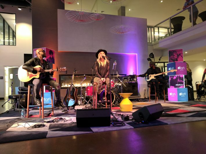 ZZ Ward and her band play at the Aloft Seattle-Redmond Hotel
