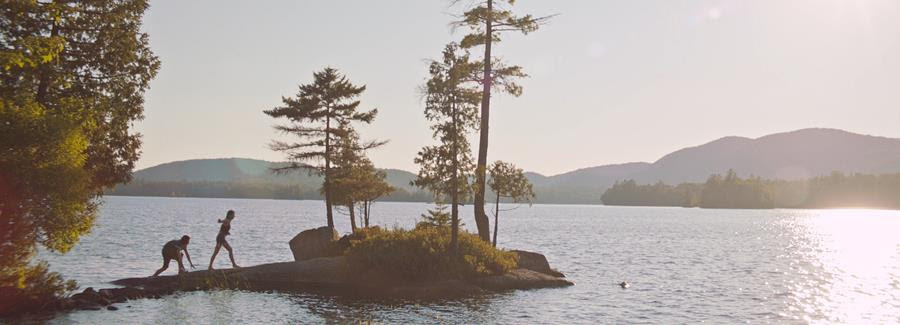 The lake as seen in Song of Sway Lake (2017).