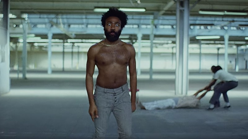 "Childish Gambino in the opening scenes of ""This is America."""