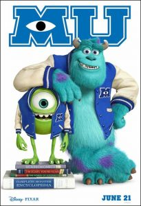 Monsters U Movie Poster