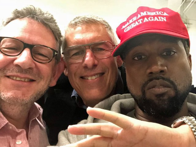 Kanye West and friends
