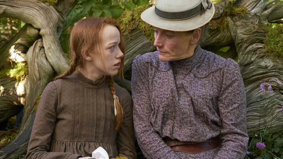 """Anne (Amybeth McNulty) and Marilla (Geraldine James) share a moment in Anne with an """"E."""""""