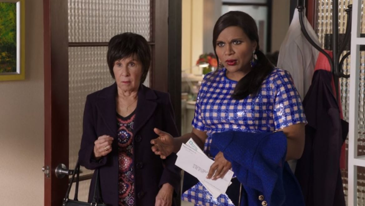 Mindy Kaling in her Mindy Project show.