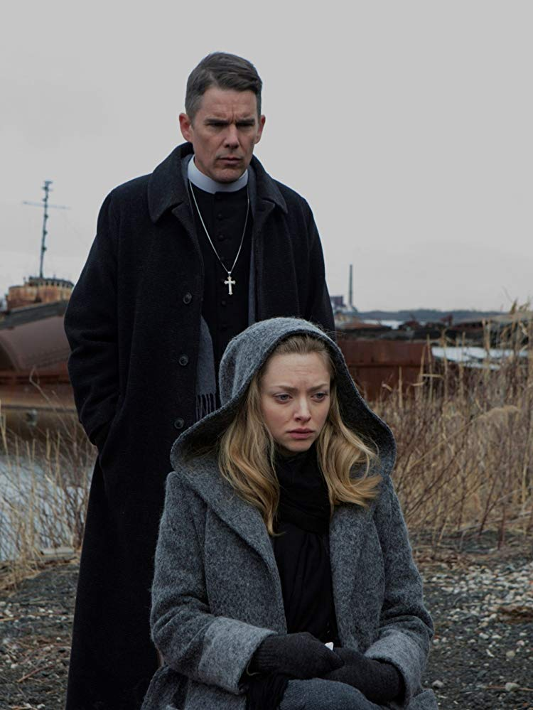 Amanda Seyfried and Ethan Hawke in First Reformed