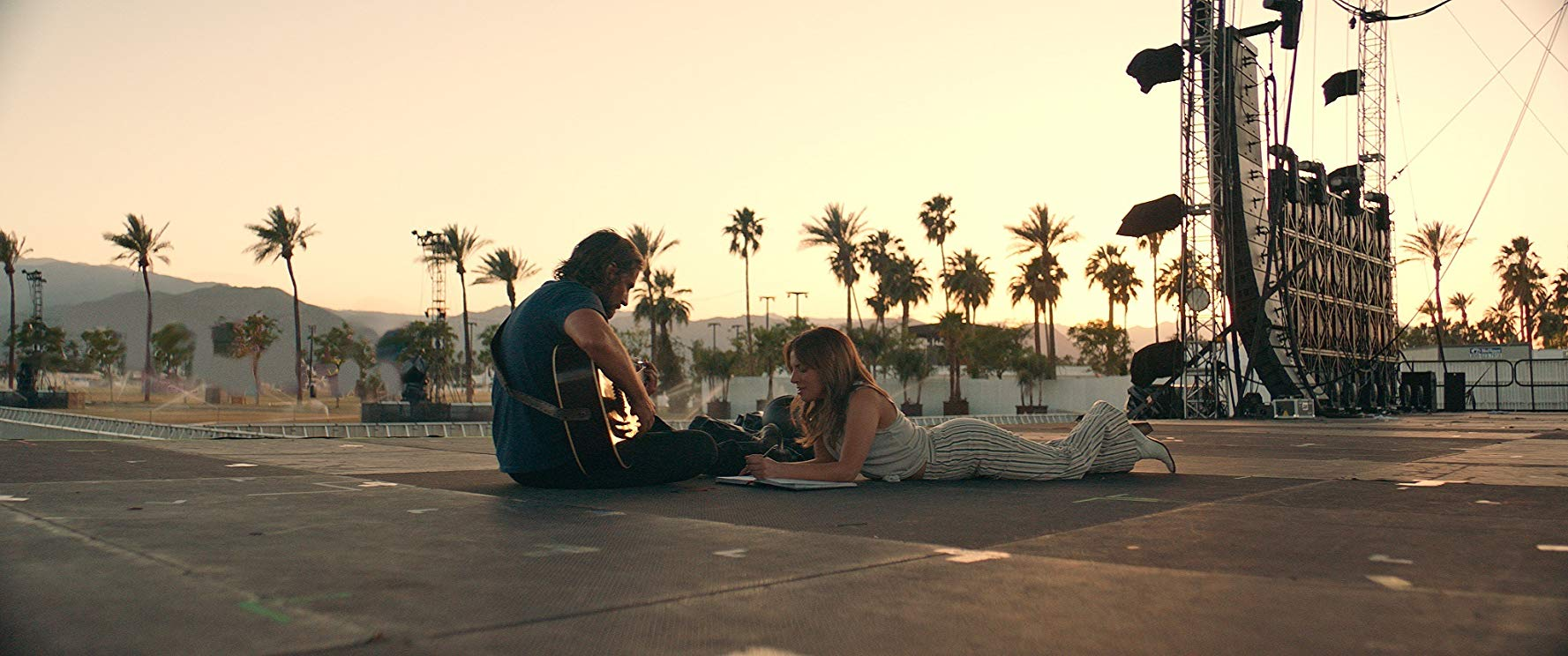 Gaga and Cooper in A Star is Born.