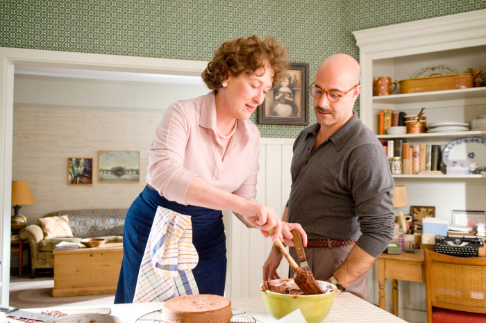 "Meryl Streep as ""Julia Child"" and Stanley Tucci as ""Paul Child"" in Columbia Pictures' Julie & Julia."