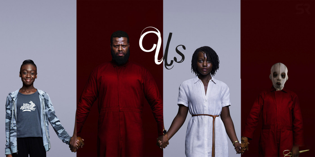Us poster with family Lupita Nyong'o Winston Duke