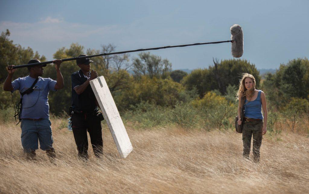 Daniah De Villiers on set of Mia and the White Lion