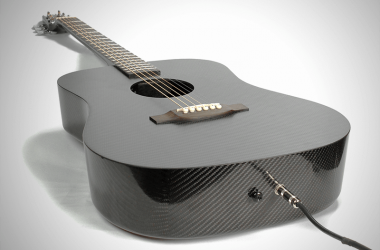 Klos Carbon Fiber Guitar laying down